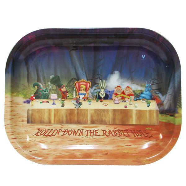 Down the rabbit hole Metal rolling tray