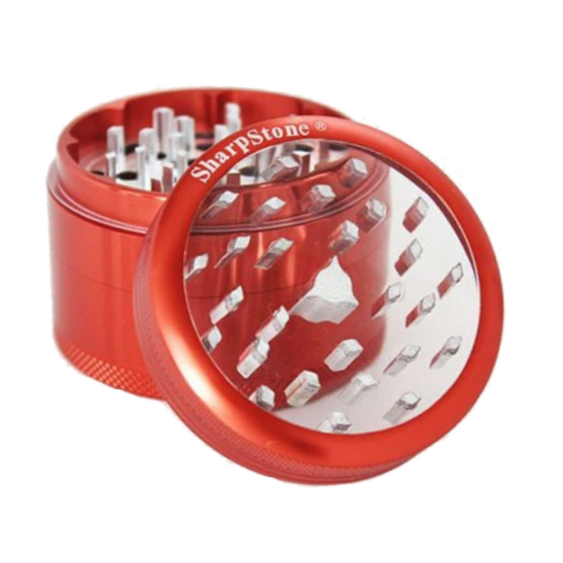 SharpStone Clear Top 4 Piece Grinder - 50mm - Inhale NZ - NZ's highest quality water pipes, smoking pipes, vape pens, e-liquids, herb vapes, grinders & more! We have the best prices in NZ! bongs nz, water pipes nz, bong nz, glass bongs nz, nz bongs, water pipe, water pipe nz, water bongs nz, bongs online nz