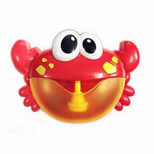 Music Bath Bubble Maker Machine Crab Frog Automatic Toy for Baby Kids - cabindusk