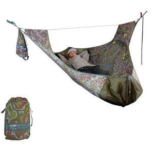 Flat Sleep Hammock Tent With Bug Net And Suspension Kit - cabindusk