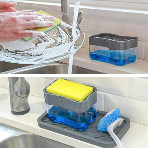 Best Selling🔥 2 in 1 Soap Pump & Sponge Rack Soap Dispenser - cabindusk