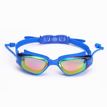 Load image into Gallery viewer, 2020 Professional Silicone Swimming Goggles With Earplugs Nose Clips Electroplate Waterproof Swimming Goggles - cabindusk