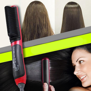 Hair Straightener Brush - cabindusk