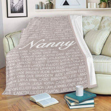 Load image into Gallery viewer, CUSTOM COZY PLUSH FLEECE BLANKET WITH NICKNAME & KIDS NAMES - cabindusk