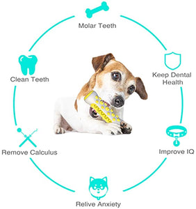 Dog Chew Toys Toothbrush Doggy Brushing Stick Bone Puppy Oral Dental Care - cabindusk