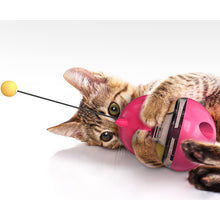 Load image into Gallery viewer, Interactive Cat Toys Tumbler Leaking Food Ball with Teasing Wand - cabindusk