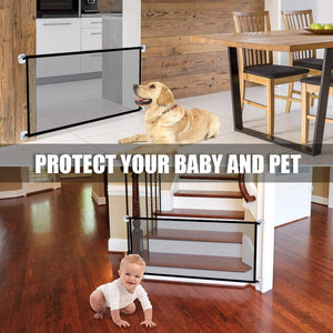 Retractable Safety Gate Portable Kids &Pets Safety Door Guard - cabindusk