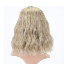 Load image into Gallery viewer, Wavy Wig Short Bob Wigs, Curly Wavy Cosplay Short Wig With Air Bangs - cabindusk
