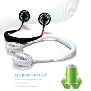 【Last Day Promotion & Best Mother's Day Gift】Lazy Neckband Fan - Keep Cool Wherever You Are! - cabindusk