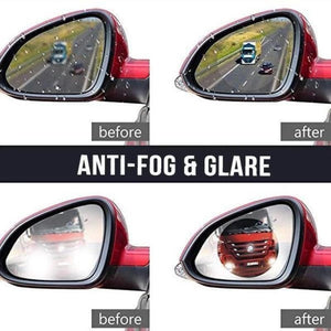 3 Pairs Rainproof, AntiFog Rearview Mirror Film - cabindusk