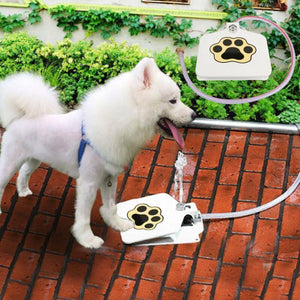 Automatic dog water fountain step on toy - cabindusk