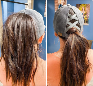 Summer Women's New Ponytail CC Caps - cabindusk