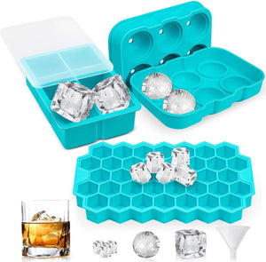 Ice Cube Trays Silicone Set - cabindusk