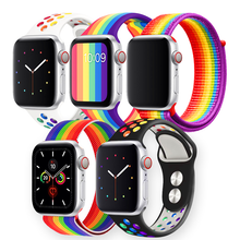 Load image into Gallery viewer, Rainbow Apple Watch Bands - cabindusk