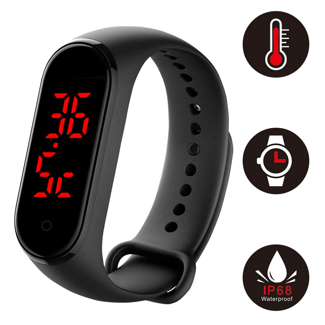 Smart Check Temperature Bracelet Wristband - cabindusk