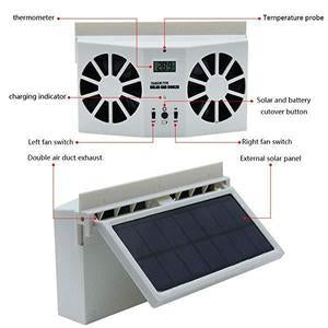 Solar Car Exhaust Heat Exhaust Fan - cabindusk