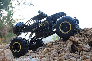 4WD RC Monster Truck Off-Road Vehicle 2.4G Remote Control Buggy Crawler Car - cabindusk