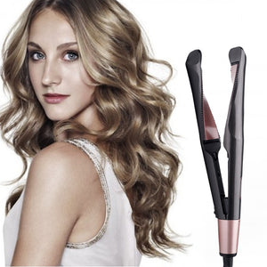 Automatic Release Negative Irons 2 in 1 Hair Curler and Straightener - cabindusk