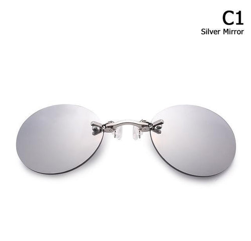 Rimless Clamp Glasses - cabindusk