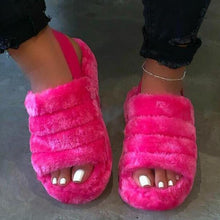 Load image into Gallery viewer, COMFORTABLE WATERPROOF FLUFFY SLIPPERS - cabindusk