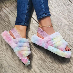 COMFORTABLE WATERPROOF FLUFFY SLIPPERS - cabindusk