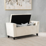 Perris Armed Storage Ottoman Bench