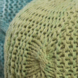 Dahlia Handcrafted Modern Fabric Weave Pouf