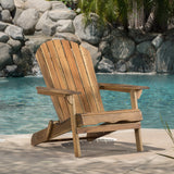 Milan Outdoor Folding Wood Adirondack Chair