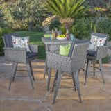 Budva Outdoor Wicker Bar Set