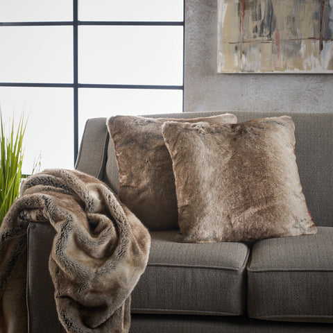 Trepida Faux Fur Pillows and Throw Blanket Combo (Set of 3)