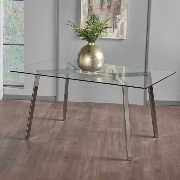 Verna Tempered Glass Dining Table
