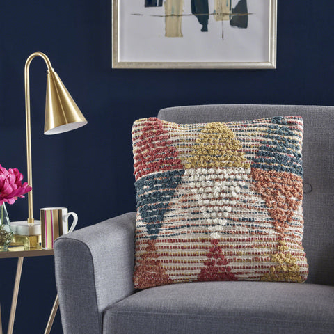 Cierra Multi-Colored Wool Throw Pillow