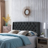 Lidia Wingback Queen/Full Tufted Fabric Headboard