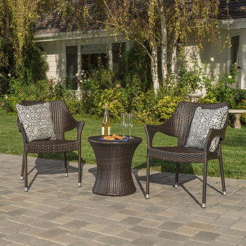 Tahitian 3pc Outdoor Chat Set
