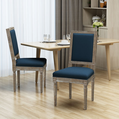 Margaret Traditional Fabric Dining Chairs (Set of 2)