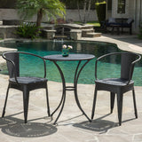 Denise Austin Home Tottenham Outdoor Black Bistro Set