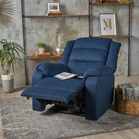 Adelande Cushioned Fabric Power Recliner