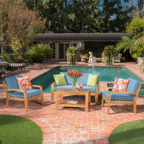 Parma 4pc Outdoor Sofa Set w/ Cushions