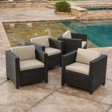 Venice Outdoor Wicker Club Chair (set of 4)