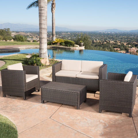 Venice 4pc Outdoor Wicker Sofa Set