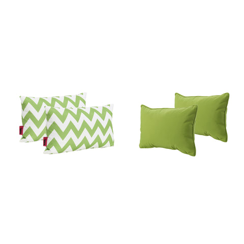La Jolla Outdoor Water Resistant Rectangular Throw Pillows - Set of 4