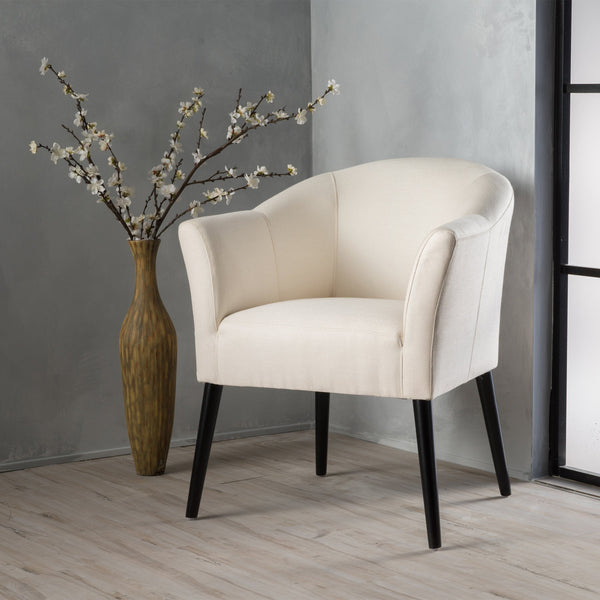 Charmaine Low Back Fabric Arm Chair Gdf Studio