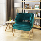 Michaela Mid Century Modern Velvet Accent Chair