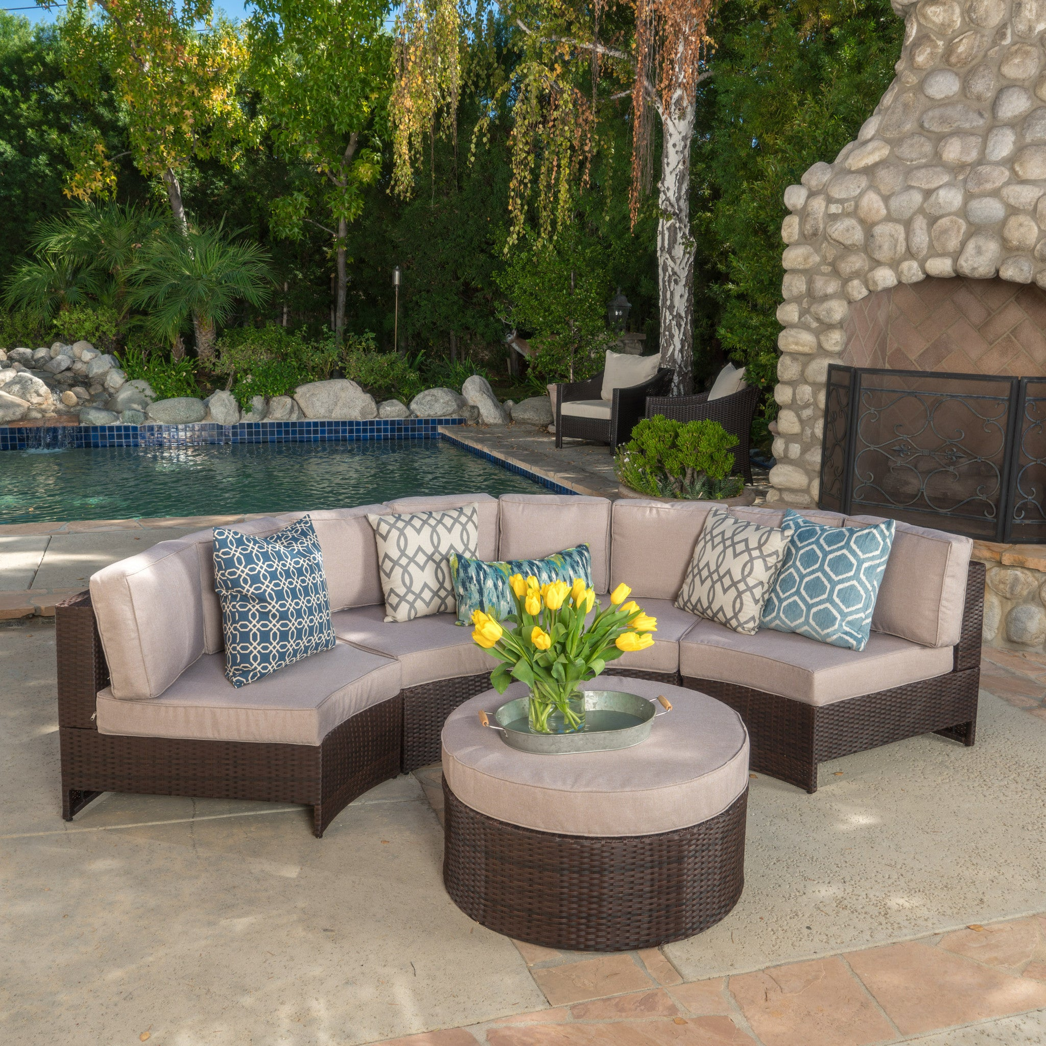 Outdoor Sectional Sofa Set foto