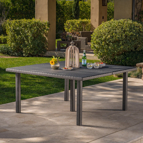 Fern Outdoor 64 Inch Wicker Square Dining Table