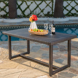 Malibu Outdoor 59 Inch Wicker Dining Table