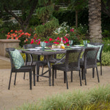Chatham Outdoor 7 Piece Multibrown Wicker Dining Set
