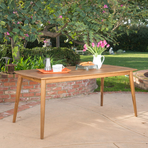 Cote Teak Finish Acacia Wood Outdoor Dining Table