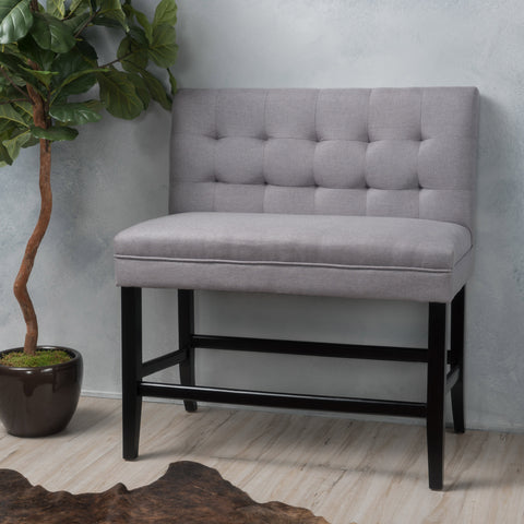 Paddy Tufted Back Fabric Barstool Bench