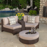 Riviera 4pc Outdoor Chat Set w/ Storage Trunk & Ice Bucket